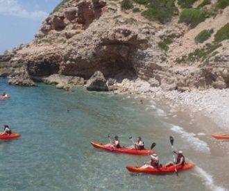 Excursión en kayak en las Calas de Sitges